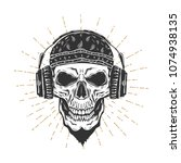 Skull With The Headphones And...