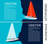 yacht club flyers design with... | Shutterstock .eps vector #1074938582