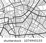 abstract city navigation map... | Shutterstock .eps vector #1074945155