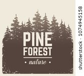 sketch vintage nature pine and... | Shutterstock .eps vector #1074945158