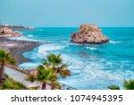 penon del cuervo beach. costa... | Shutterstock . vector #1074945395