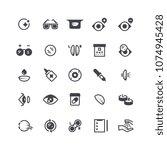 eye problems  optical contact... | Shutterstock .eps vector #1074945428