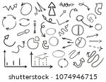 infographic elements on... | Shutterstock .eps vector #1074946715