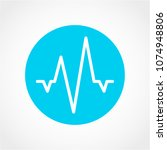 pulse line icon isolated on... | Shutterstock .eps vector #1074948806