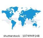 blue similar world map blank...   Shutterstock .eps vector #1074949148