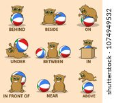 table of prepositions of place... | Shutterstock .eps vector #1074949532