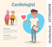 cardiologist. medicine vector.... | Shutterstock .eps vector #1074960098