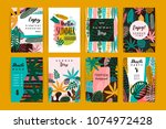 set of abstract creative... | Shutterstock .eps vector #1074972428
