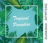 vector illustration of summer... | Shutterstock .eps vector #1074972542