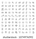 set of 100 high quality... | Shutterstock .eps vector #1074976592