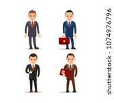 business man. set of... | Shutterstock .eps vector #1074976796