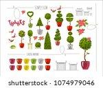 vector illustration set of... | Shutterstock .eps vector #1074979046