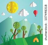 paper pop up beautiful... | Shutterstock .eps vector #107498318
