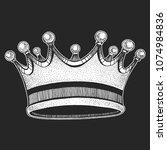 vector crown. cool emblem for... | Shutterstock .eps vector #1074984836