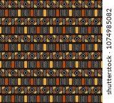 tribal seamless pattern.... | Shutterstock .eps vector #1074985082