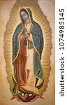 Small photo of BOLOGNA, ITALY - APRIL 18, 2018: The paint of Virgin Mary of Guadalupe in chruch Chiesa di San Benedetto Francisco Antonio Vallejo (1772).
