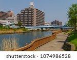 koto ku  tokyo  japan. april 20 ... | Shutterstock . vector #1074986528