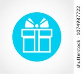 gift icon isolated on white... | Shutterstock .eps vector #1074987722