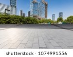 empty floor with modern... | Shutterstock . vector #1074991556