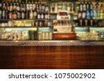 Stock photo interior of bar classic bar counter 1075002902