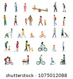 crowd of people performing... | Shutterstock .eps vector #1075012088