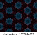 abstract fractal seamless... | Shutterstock . vector #1075016372
