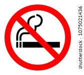 no smoking sign vector... | Shutterstock .eps vector #1075021436