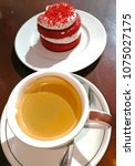 cake and coffe   Shutterstock . vector #1075027175