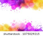 abstract background banner with ... | Shutterstock .eps vector #1075029215