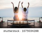 freedom and relax with two...   Shutterstock . vector #1075034288