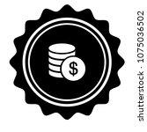 vintage emblem medal with... | Shutterstock .eps vector #1075036502