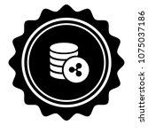 vintage emblem medal with... | Shutterstock .eps vector #1075037186