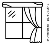 curtain icon vector | Shutterstock .eps vector #1075041548
