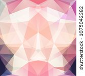 abstract mosaic background.... | Shutterstock .eps vector #1075042382