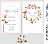save the date card  wedding... | Shutterstock .eps vector #1075044062