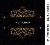 save the date invitation card... | Shutterstock .eps vector #1075045856