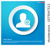 e mail contact avatar icon... | Shutterstock .eps vector #1075047512