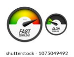 fast and slow download... | Shutterstock .eps vector #1075049492