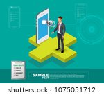 isometric vector illustration ... | Shutterstock .eps vector #1075051712