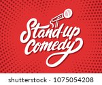 stand up comedy background. | Shutterstock .eps vector #1075054208