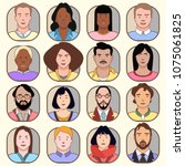 icons of different people | Shutterstock .eps vector #1075061825