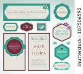set of wedding invitation cards | Shutterstock .eps vector #107506592