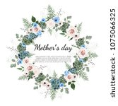 mother s day greeting card with ... | Shutterstock .eps vector #1075066325