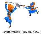 a vector illustration of two ... | Shutterstock .eps vector #1075074152