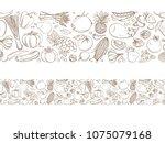 seamless frame border... | Shutterstock .eps vector #1075079168