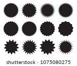 set of starburst  sunburst... | Shutterstock .eps vector #1075080275