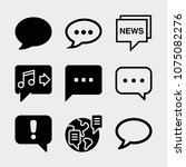 set of 9 chat filled icons such ... | Shutterstock .eps vector #1075082276