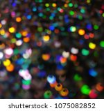 bokeh lights for party  holiday ... | Shutterstock . vector #1075082852