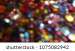 bokeh lights for party  holiday ... | Shutterstock . vector #1075082942