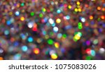 bokeh lights for party  holiday ... | Shutterstock . vector #1075083026